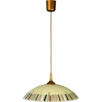 LAMPEX 013/K | Lampex-Pendant Lampex függeszték lámpa 1x E27 patina, krémszín, többszínű