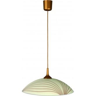 LAMPEX 013/L | Lampex-Pendant Lampex függeszték lámpa 1x E27 patina, krémszín