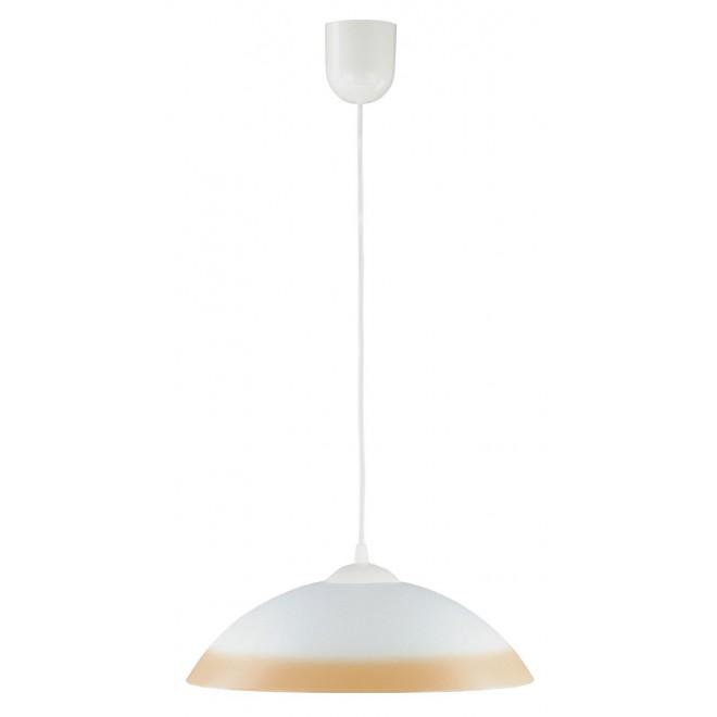 LAMPEX 013/R | Lampex-Pendant Lampex függeszték lámpa 1x E27 fehér, narancs