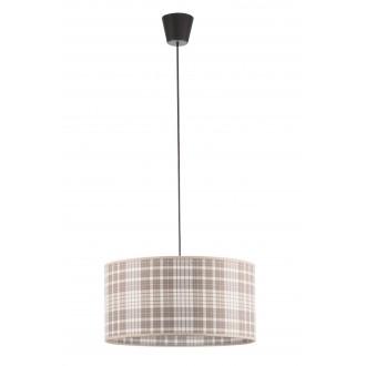 LAMPEX 019/B | Cyntia-LA Lampex függeszték lámpa 1x E27 fekete, fehér, barna