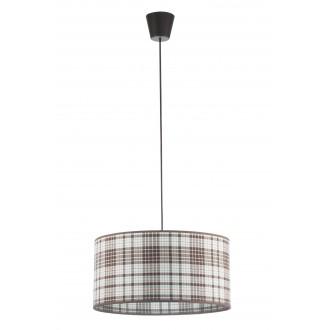 LAMPEX 019/C | Cyntia-LA Lampex függeszték lámpa 1x E27 fekete, fehér, barna