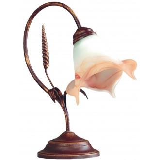 LAMPEX 020/LM B+M | Klos Lampex asztali lámpa 35cm 1x E27 antik vörösréz, alabástrom, borostyán