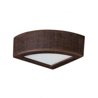 LAMPEX 022/K20 | Atena Lampex fali lámpa 1x E27 sötét fa, fehér