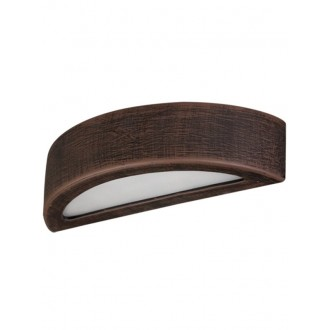 LAMPEX 022/K40 | Atena Lampex fali lámpa 1x E27 sötét fa, fehér