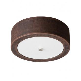 LAMPEX 022/P26 | Atena Lampex mennyezeti lámpa 1x E27 sötét fa, fehér, króm