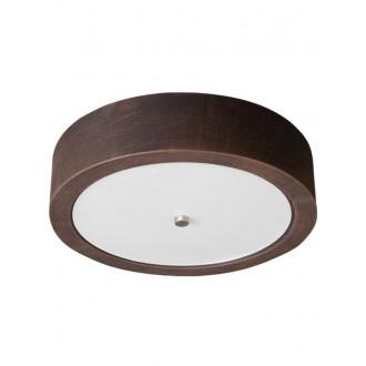 LAMPEX 022/P36 | Atena Lampex mennyezeti lámpa 2x E27 sötét fa, fehér, króm