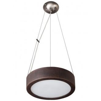 LAMPEX 022/Z36 | Atena Lampex függeszték lámpa 2x E27 sötét fa, fehér