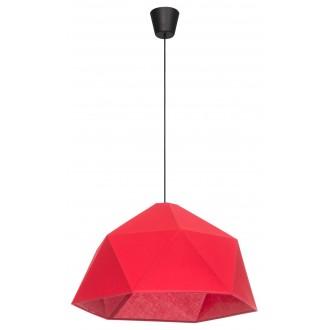 LAMPEX 024/1 | Rasia Lampex függeszték lámpa 1x E27 fekete, piros