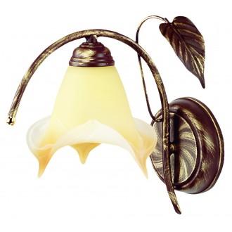 LAMPEX 025/K B+Z | Roslina Lampex falikar lámpa 1x E27 antikolt barna, borostyán