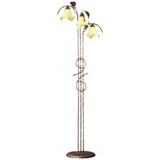 LAMPEX 025/ST B+Z | Roslina Lampex álló lámpa 166cm 3x E27 antikolt barna, borostyán