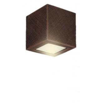 LAMPEX 026/14W | Adera Lampex fali lámpa 1x E27 sötét fa, fehér
