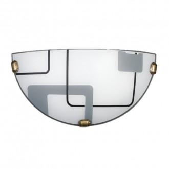 LAMPEX 034/K1 ECO | Quadro-LA Lampex fali lámpa 1x E27 patina, fehér, szürke
