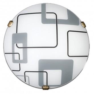 LAMPEX 034/P1 ECO | Quadro-LA Lampex mennyezeti lámpa 1x E27 patina, fehér, szürke