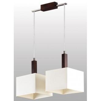 LAMPEX 042/2 WEN | Karmen Lampex függeszték lámpa 2x E14 wenge, fehér