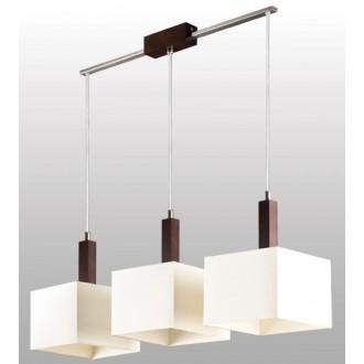 LAMPEX 042/3 WEN | Karmen Lampex függeszték lámpa 3x E14 wenge, fehér