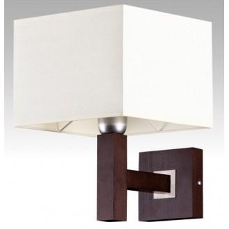 LAMPEX 042/K WEN | Karmen Lampex falikar lámpa 1x E14 wenge, fehér