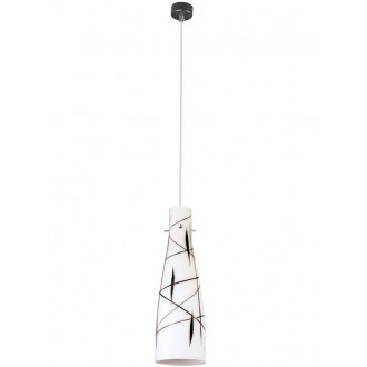 LAMPEX 043/1 DEK | Tubo-LA Lampex függeszték lámpa 1x E27 fehér, fekete
