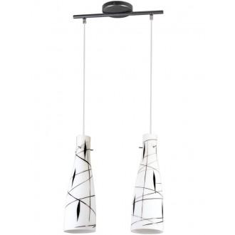 LAMPEX 043/2 DEK | Tubo-LA Lampex függeszték lámpa 2x E27 fehér, fekete