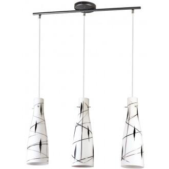 LAMPEX 043/3 DEK | Tubo-LA Lampex függeszték lámpa 3x E27 fehér, fekete