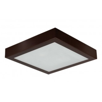 LAMPEX 044/2W | Ventana Lampex mennyezeti lámpa 2x E27 wenge, fehér
