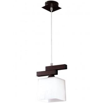LAMPEX 048/1 WEN | Cubo-LA Lampex függeszték lámpa 1x E27 wenge, króm, fehér