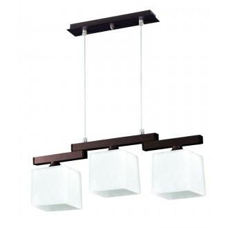 LAMPEX 048/3 WEN | Cubo-LA Lampex függeszték lámpa 3x E27 wenge, króm, fehér