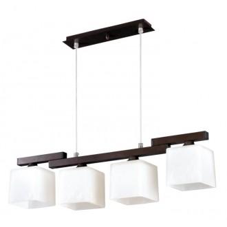 LAMPEX 048/4 WEN | Cubo-LA Lampex függeszték lámpa 4x E27 wenge, króm, fehér