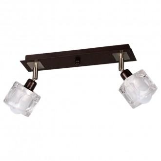 LAMPEX 049/2 WEN | FoRma-LA Lampex mennyezeti lámpa 2x E14 wenge, króm, átlátszó