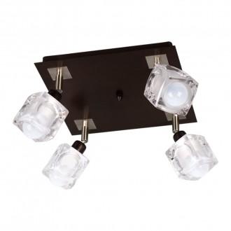 LAMPEX 049/4 WEN | FoRma-LA Lampex mennyezeti lámpa 4x E14 wenge, króm, átlátszó