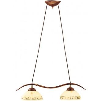 LAMPEX 050/2 B+M | Greka Lampex függeszték lámpa 2x E27 antikolt barna, bézs