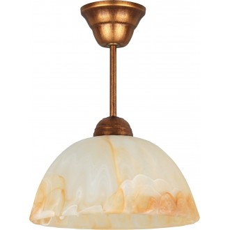 LAMPEX 066/Z B+M | Lampex-Pendant Lampex függeszték lámpa 1x E27 antik vörösréz, borostyán