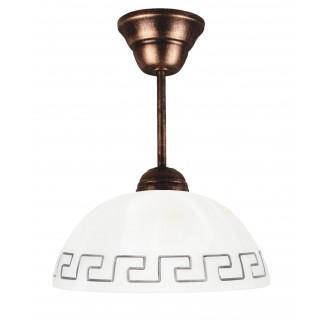 LAMPEX 066/Z C+M | Lampex-Pendant Lampex függeszték lámpa 1x E27 antik vörösréz, bézs
