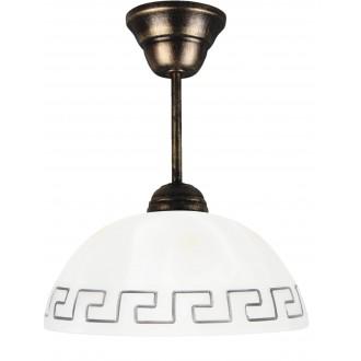 LAMPEX 066/Z C+Z | Lampex-Pendant Lampex függeszték lámpa 1x E27 antikolt ezüst, fehér