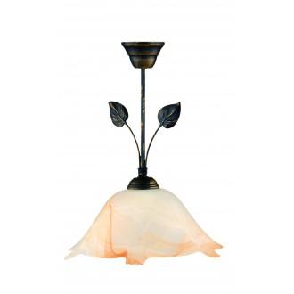 LAMPEX 069/Z C+M | Lampex-Pendant Lampex függeszték lámpa 1x E27 antikolt barna, alabástrom, borostyán
