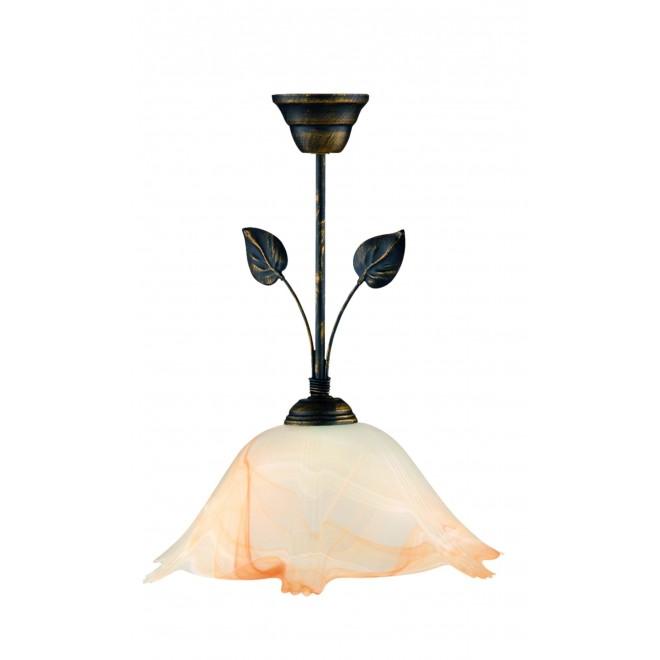 LAMPEX 069/Z C+M   Lampex-Pendant Lampex függeszték lámpa 1x E27 antikolt barna, alabástrom, borostyán