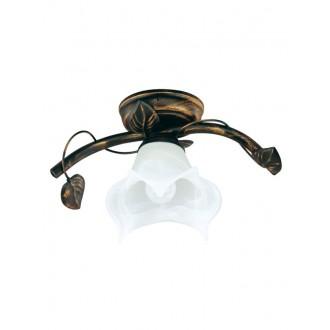 LAMPEX 090/1 C+M | Bluszcz Lampex mennyezeti lámpa 1x E27 antikolt barna, alabástrom