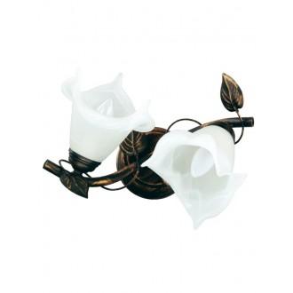 LAMPEX 090/2 C+M | Bluszcz Lampex mennyezeti lámpa 2x E27 antikolt barna, alabástrom
