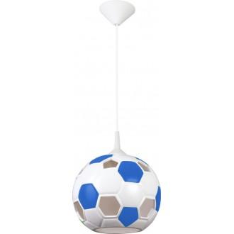 LAMPEX 102/PNI | Pilka Lampex függeszték lámpa 1x E27 fehér, kék