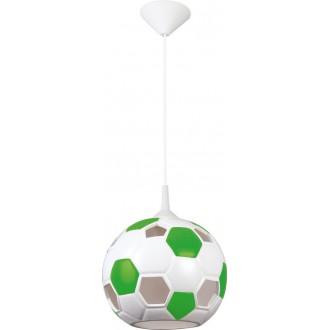 LAMPEX 102/PZI | Pilka Lampex függeszték lámpa 1x E27 fehér, zöld