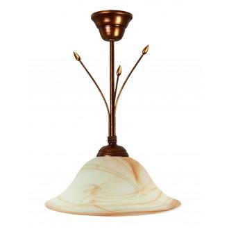 LAMPEX 114/Z B+M | Lampex-Pendant Lampex függeszték lámpa 1x E27 patina, bézs, borostyán