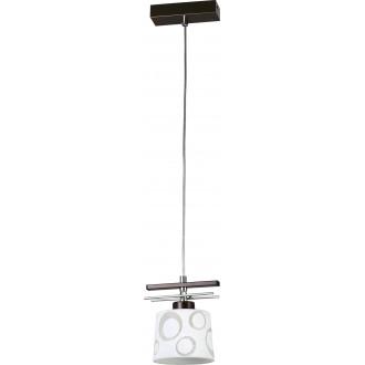 LAMPEX 128/1 WEN | Alicente Lampex függeszték lámpa 1x E27 wenge, króm, fehér