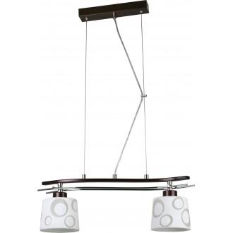 LAMPEX 128/2 WEN | Alicente Lampex függeszték lámpa 2x E27 wenge, króm, fehér