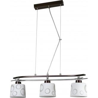 LAMPEX 128/3 WEN   Alicente Lampex függeszték lámpa 3x E27 wenge, króm, fehér