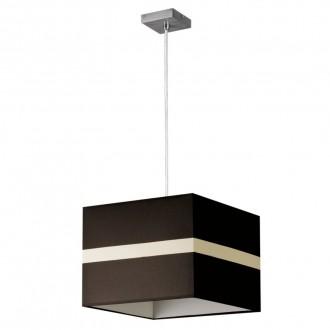 LAMPEX 131/1 SAT | Linea-LA Lampex függeszték lámpa 1x E27 króm, wenge, fehér