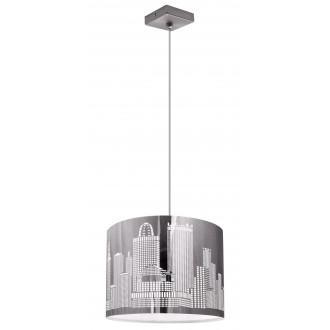 LAMPEX 144/1   City-LA Lampex függeszték lámpa 1x E27 ezüst, fehér