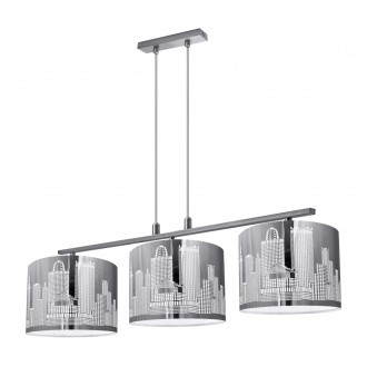 LAMPEX 144/3   City-LA Lampex függeszték lámpa 3x E27 ezüst, fehér