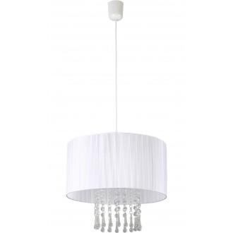 LAMPEX 153/1 BIA | Wenecja-LA Lampex függeszték lámpa 1x E27 fehér, átlátszó