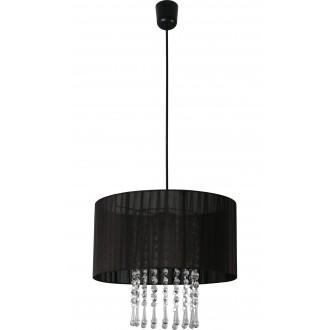 LAMPEX 153/1 CZA | Wenecja-LA Lampex függeszték lámpa 1x E27 fekete, átlátszó