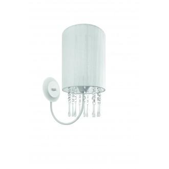 LAMPEX 153/K BIA | Wenecja-LA Lampex falikar lámpa 1x E27 fehér, átlátszó