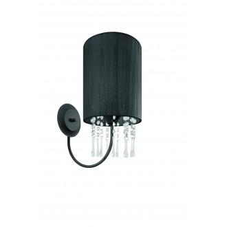LAMPEX 153/K CZA | Wenecja-LA Lampex falikar lámpa 1x E27 fekete, átlátszó